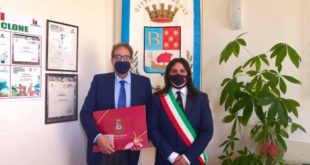 Bacoli. Il Prefetto di Napoli  Marco Valentini in visita in città.