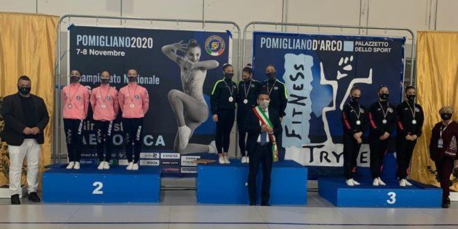 Ginnastica Aerobica, Pomigliano e Monte di Procida tricolori Fitness Trybe e Chige fanno incetta di titoli italiani