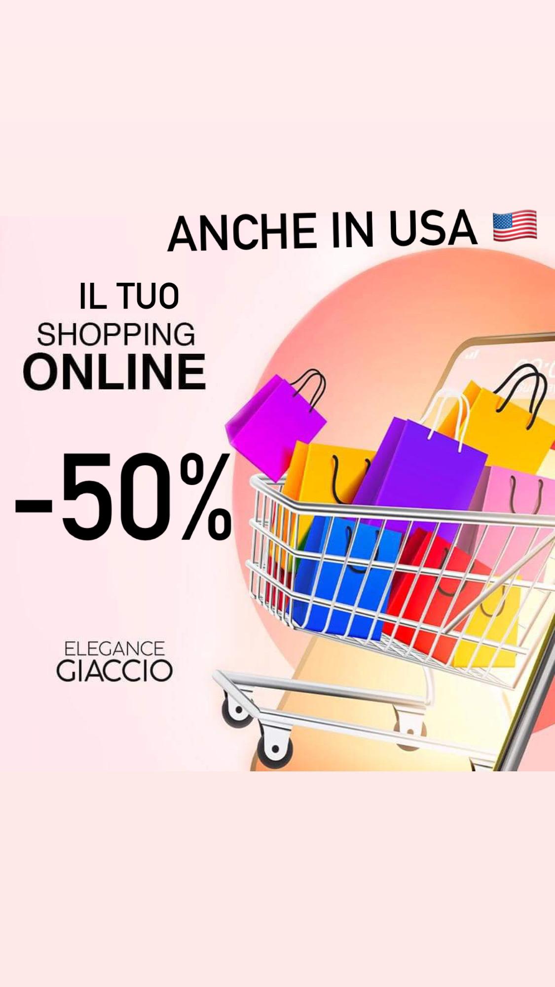Approfitta del -50% su www.elegancegiaccio.com