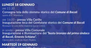 Celebrazioni autonomia amministrativa di Bacoli: tre giornate di eventi tra il 17 e il 19 Gennaio 2021