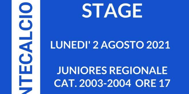 Montecalcio Club: lunedì 2 agosto al via gli stage per la Juniores Regionale e gli Allievi Regionali
