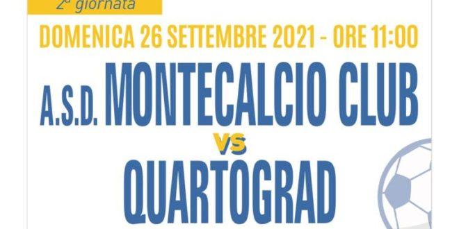 Domenica alle 11 as.d Montecalcio club- Quartograd